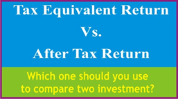 Title: Difference Between Tax Equivalent Return vs. After Tax Return - Description: Which one should you use to compare two investments?